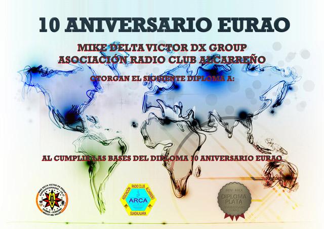 Diploma 10 aniversario EURAO