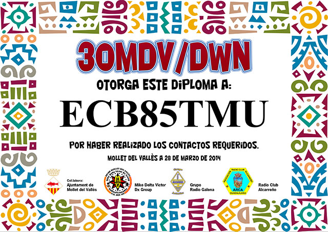 Diploma 30MDV/DWN 2014