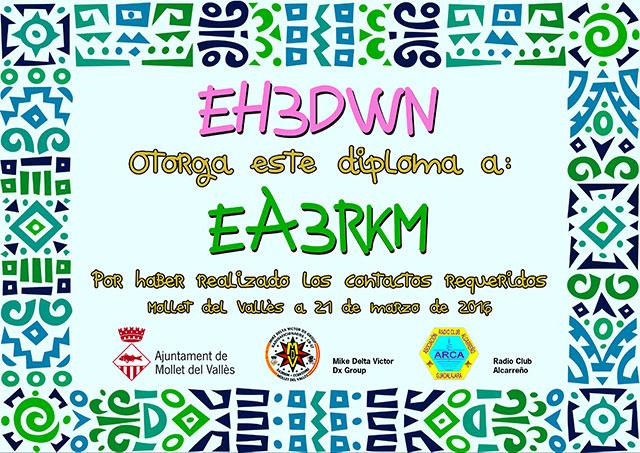 Diploma EH3DWN 2016
