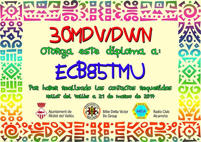 Diploma 30MDV/DWN 2017