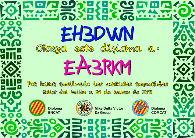 Diploma EH3DWN 2018