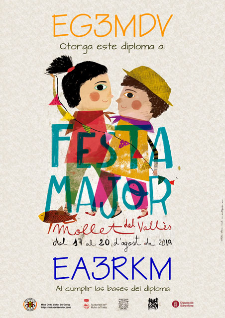 Diploma Fiesta Mayor MDV 2019