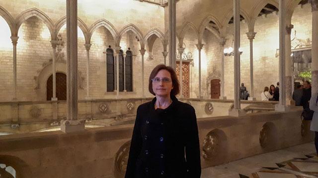 Nuestra Presidenta en el interior del Palau de la Generalitat de Catalunya