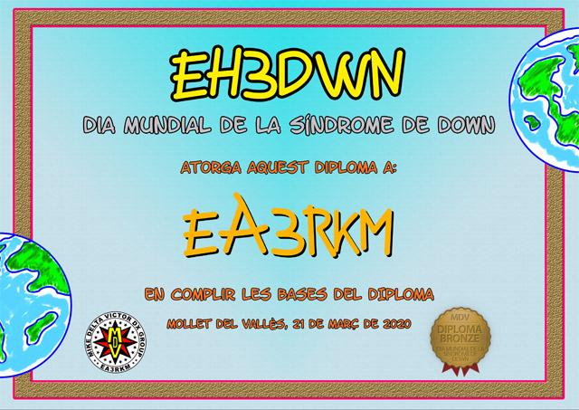 Diploma EH3DWN 2020 Bronce