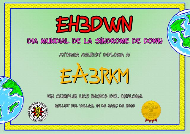 Diploma EH3DWN 2020 Oro