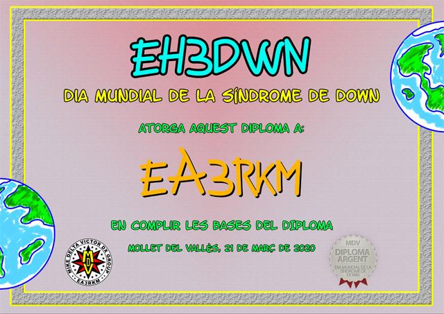 Diploma EH3DWN 2020 Plata