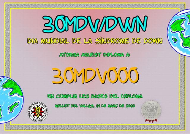 Diploma 30MDV/DWN 2020