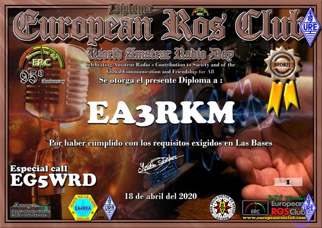 Diploma EG5WRD 2020 Bronce