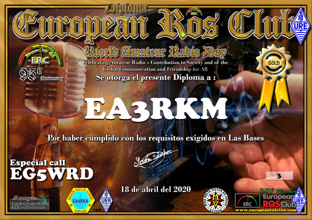 Diploma EG5WRD 2020 Oro