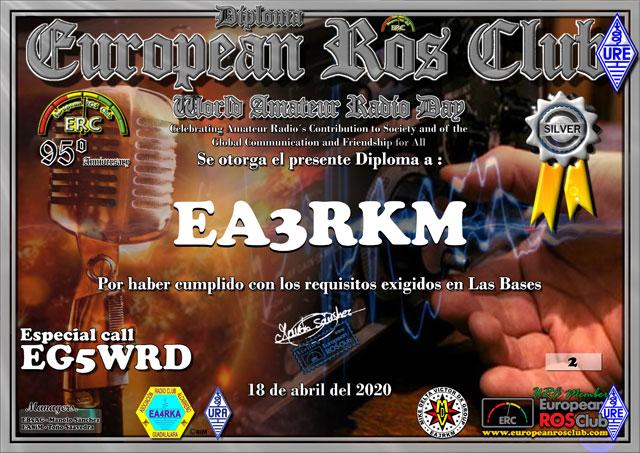 Diploma EG5WRD 2020 Plata