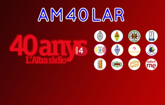 eQSL d'AM40LAR - 40 aniversari de L'Altra Ràdio de Ràdio 4