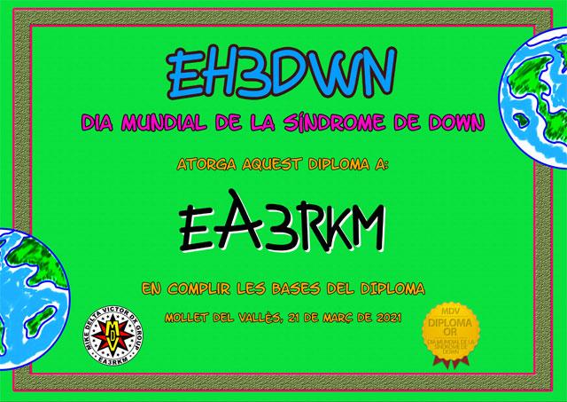 Diploma EH3DWN 2021 Oro