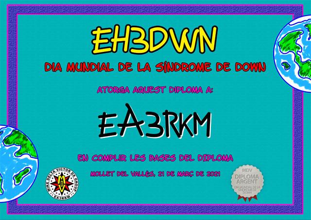 Diploma EH3DWN 2021 Plata