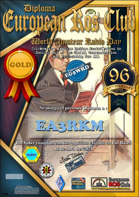 Diploma EG5WRD 2021 Oro