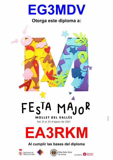 Diploma Fiesta Mayor MDV 2021